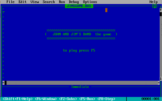 And george biggs helped me make a text based q basic game q basic